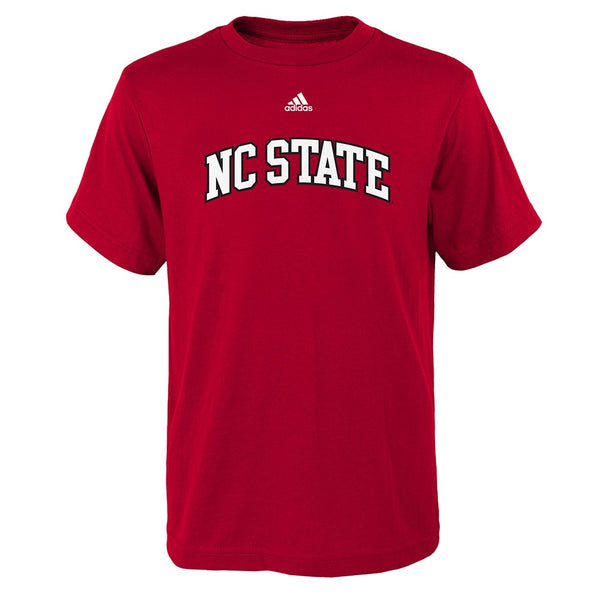 "NC State Wolfpack NCAA Adidas Youth Red ""Football Sports"" T-Shirt"