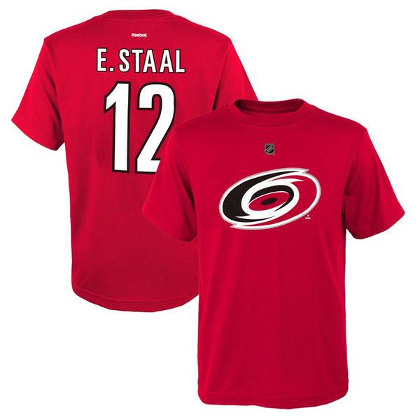 Eric Staal NHL Reebok Carolina Hurricanes Red Premier Jersey T-Shirt Youth S-XL
