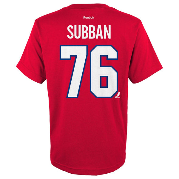 P.K. Subban NHL Reebok Montreal Canadiens Premier Jersey Red T-Shirt Youth S-XL