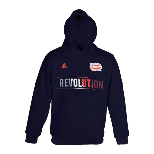 New England Revolution MLS Adidas Team Aeroband Pullover Hoodie Youth
