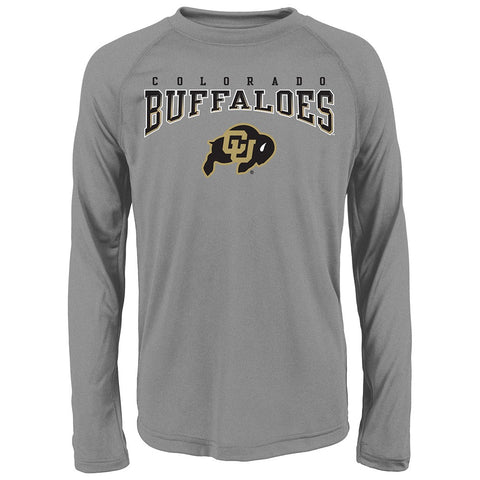 "Colorado Buffaloes NCAA Youth Grey ""Fadeout"" Long Sleeve Performance T-Shirt"