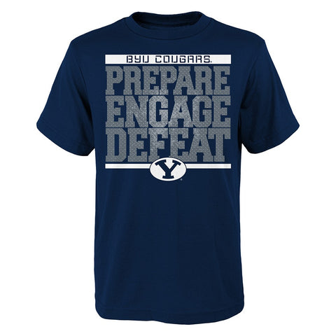 "BYU Cougars NCAA Youth Navy Blue ""Preparation"" Graphic T-Shirt"