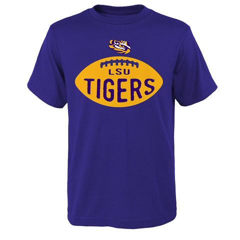 "LSU Tigers NCAA Youth Purple ""Embossed"" T-Shirt"