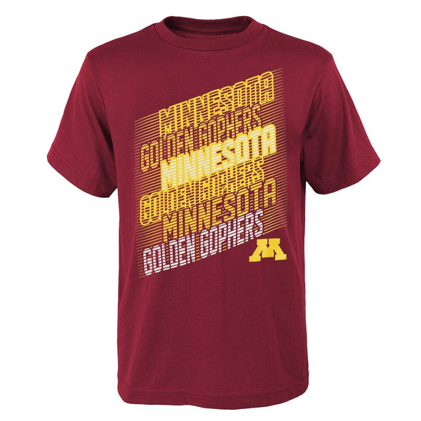 "Minnesota Golden Gophers NCAA Youth Maroon ""Accelerate"" T-Shirt"