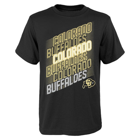 "Colorado Buffaloes NCAA Youth Black ""Accelerate"" T-Shirt"