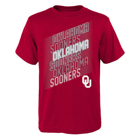 "Oklahoma Sooners NCAA Youth Red ""Accelerate"" T-Shirt"