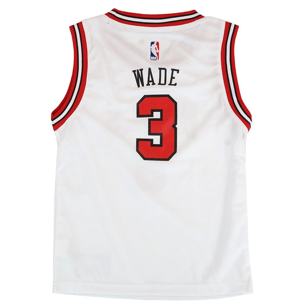 Dwyane Wade Chicago Bulls NBA White Home Replica Jersey Boys Size (4-7)
