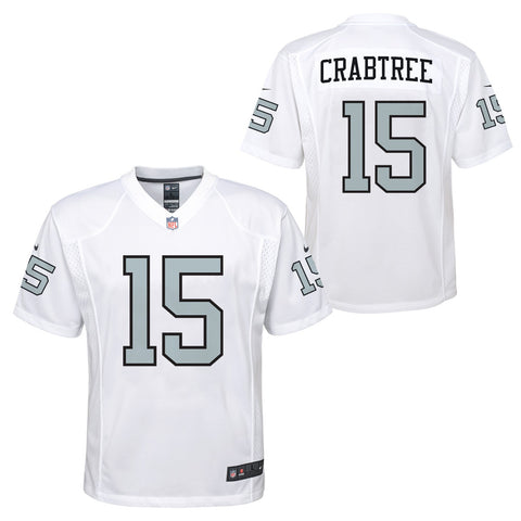 Michael Crabtree Oakland Raiders NFL Nike Youth White  Color Rush Jersey
