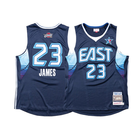 LeBron James NBA 2009 All Star East Mitchell & Ness Men's Authentic Navy Jersey