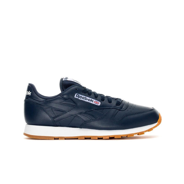 Reebok Classic Leather Gum (COLLEGIATE NAVY/WHITE-GUM) Men's Shoes AR1216