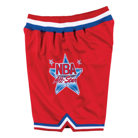 1991 NBA All Star West Mitchell & Ness Men's Authentic Throwback Red Shorts