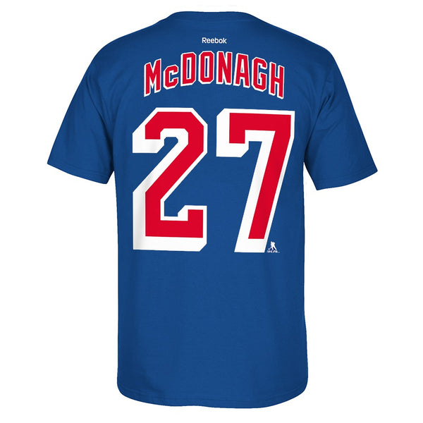 Ryan McDonagh Reebok New York Rangers Premier Player N&N Jersey T-Shirt Men's