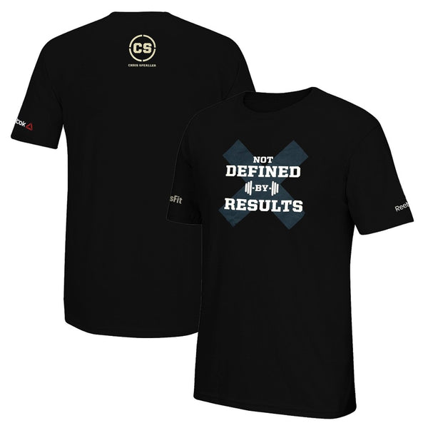 Reebok Men's CrossFit Chris Spealler - Not Defined By Results Black T-Shirt
