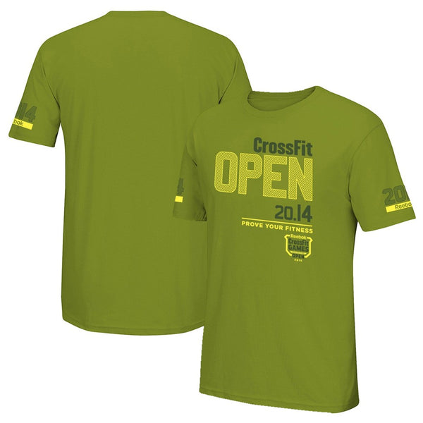 "Reebok Men's  CrossFit Open 2014 ""Prove Your Fitness"" Logo Olive T-Shirt"