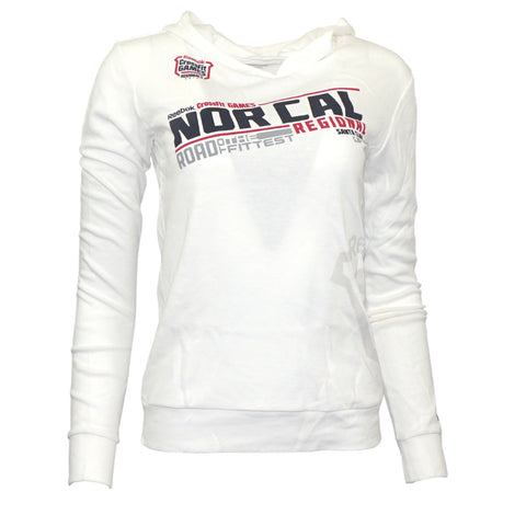"2012 CrossFit Games Regionals Women's White ""NOR CAL"" Hooded Thermal"