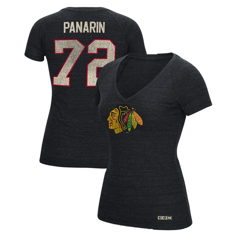 Artemi Panarin CCM Chicago Blackhawks V-Neck N&N Jersey T-Shirt Women's