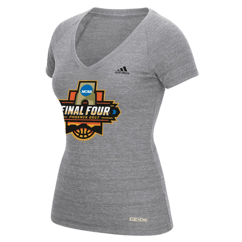2017 Final Four Women's Basketball Adidas Women's Event Logo Grey T-Shirt