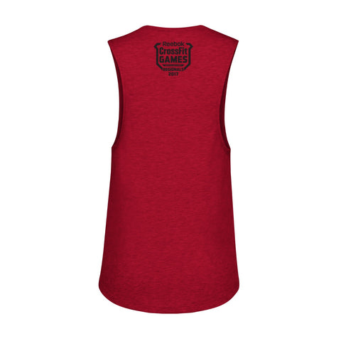 "2017 CrossFit Games Regionals Women's Red ""Road To Madison"" Muscle Tank Top"
