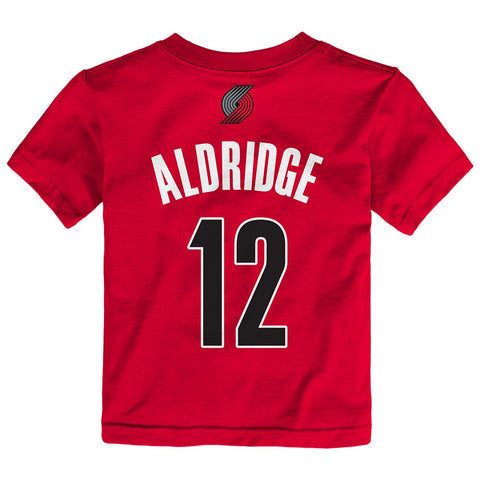 LaMarcus Aldridge NBA Portland Trail Blazers Name & # Jersey Red T-Shirt Toddler