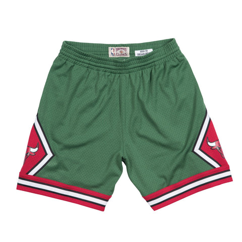 "Chicago Bulls 2008-09 ""Green Week"" Mitchell & Ness Swingman Throwback Shorts"