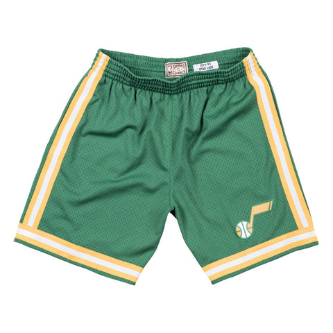 Utah Jazz 1979 NBA Mitchell & Ness Road Green Swingman Shorts Men's