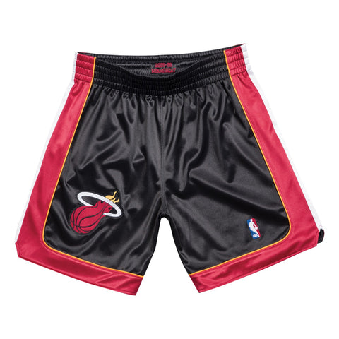 Miami Heat 2005-06 Road Black Mitchell & Ness Authentic Shorts Men's