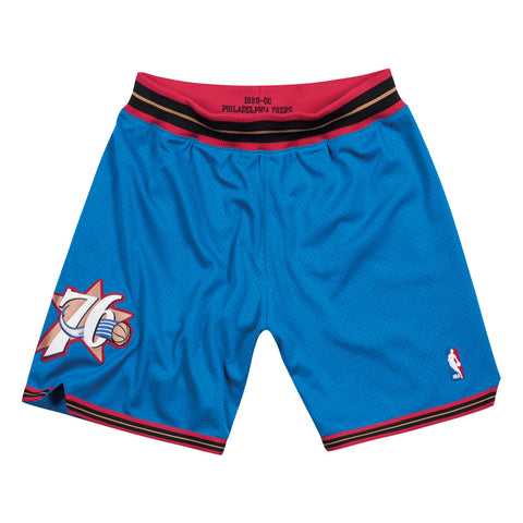 Philadelphia 76ers 1999-00 Alternate Blue Mitchell & Ness Authentic Shorts Men's