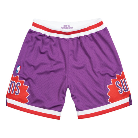 Phoenix Suns 1991-92 Road Purple Mitchell & Ness Authentic Shorts Men's