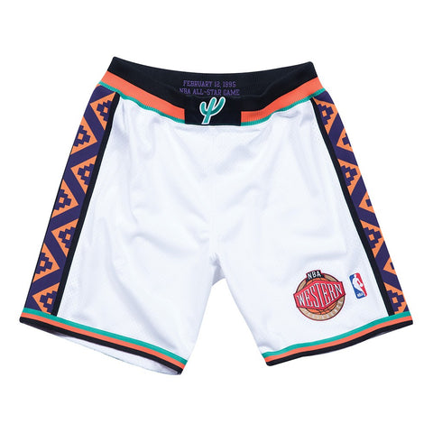 1995 NBA All Star West Authentic Mitchell & Ness Throwback White Shorts Men's