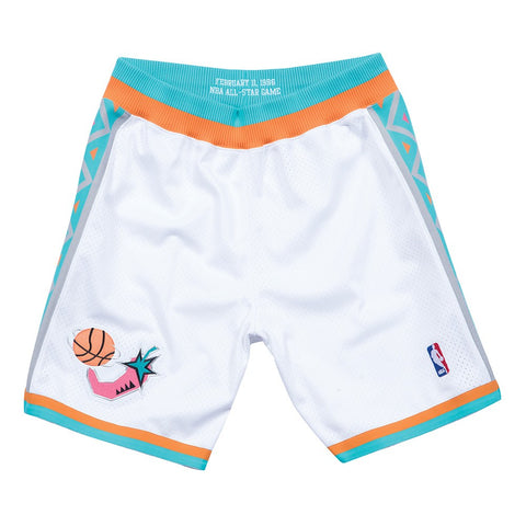 1996 NBA All Star West Authentic Mitchell & Ness Throwback White Shorts Men's