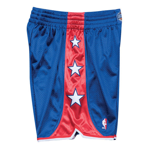 2004 NBA All Star East Authentic Mitchell & Ness Throwback Blue Shorts Men's
