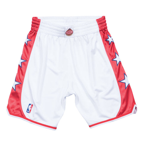 2004 NBA All Star West Authentic Mitchell & Ness Throwback White Shorts Men's