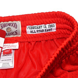 1983 NBA All Star East Mitchell & Ness Throwback Swingman Red Shorts Men's