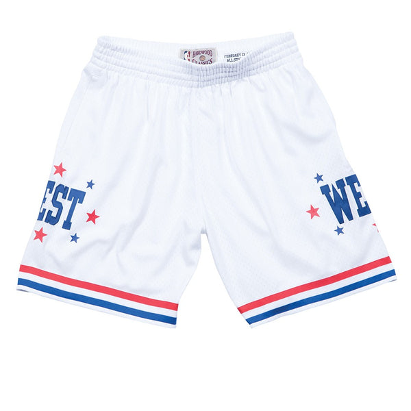 1983 NBA All Star West Mitchell & Ness Throwback Swingman White Shorts Men's