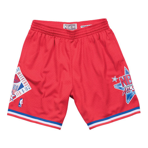 1991 NBA All Star West Mitchell & Ness Throwback Swingman Red Shorts Men's