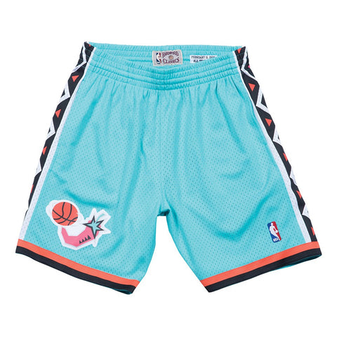 1996 NBA All Star East Mitchell & Ness Throwback Swingman Teal Shorts Men's