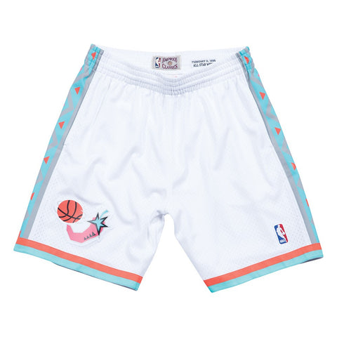 1995 NBA All Star West Mitchell & Ness Throwback Swingman White Shorts Men's
