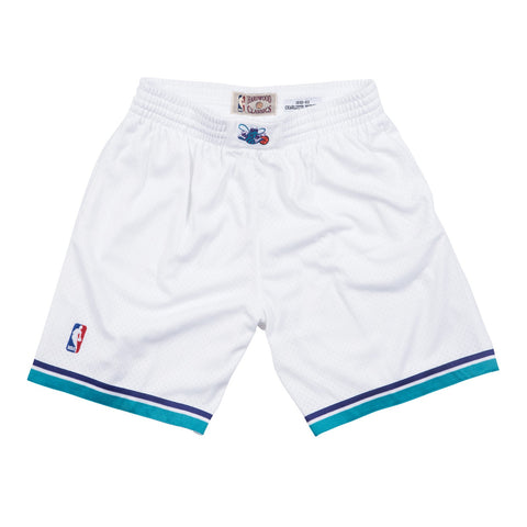 Charlotte Hornets NBA Mitchell & Ness Men's White 1992-93 Home Swingman Shorts