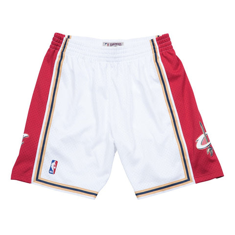 Cleveland Cavaliers NBA Men's Mitchell & Ness 2003-04 Home White Swingman Shorts