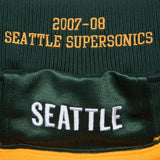 Seattle Supersonics 2007-08 Mitchell & Ness Authentic Alternate Gold HWC Shorts