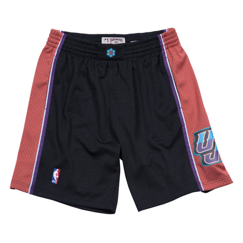 1998-1999 Utah Jazz Swingman Mitchell & Ness Alt Black Throwback Swingman Shorts