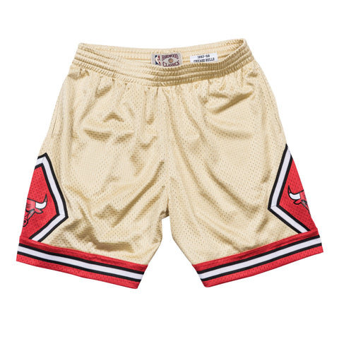 Chicago Bulls NBA Mitchell & Ness Men's Gold Men Shorts