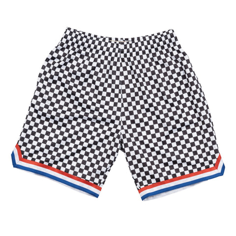 Cleveland Cavaliers Mitchell & Ness Black & White Checkered Swingman Shorts