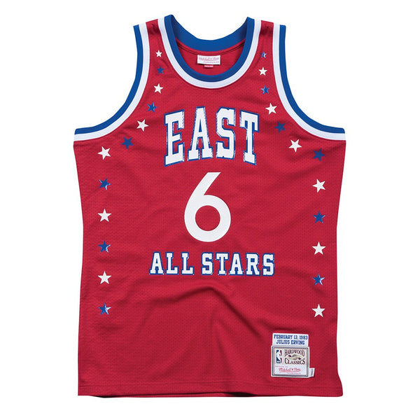 Julius Erving 1972 NBA All Star East Mitchell & Ness Authentic Red Jersey Men's