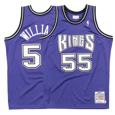 1998-99 Jason Williams NBA Sacramento Kings Mitchell & Ness Authentic Alt Jersey