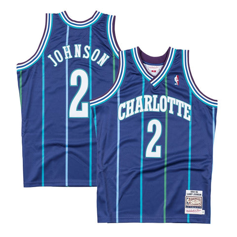 Larry Johnson 1994-95 Charlotte Hornets Mitchell & Ness Authentic Jersey Men's