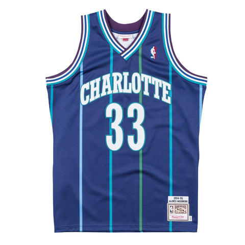 Alonzo Mourning 1994-95 Charlotte Hornets Mitchell & Ness Authentic Jersey Men's