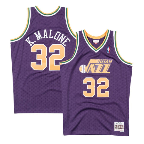 Karl Malone Utah Jazz 1991-92 Road Purple Mitchell & Ness Swingman Jersey