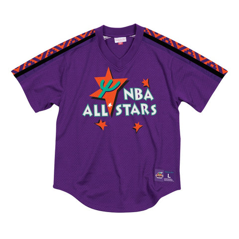 1995 NBA All Star East Mitchell & Ness Men's Pullover V-Neck Mesh Purple Jersey