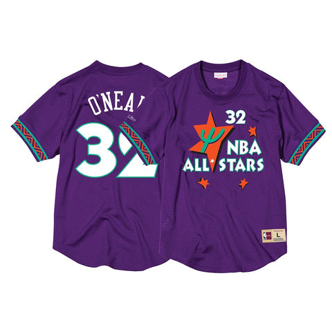 Shaquille O'Neal 1995 NBA All Star Mitchell & Ness Men's Mesh Crew Neck Jersey